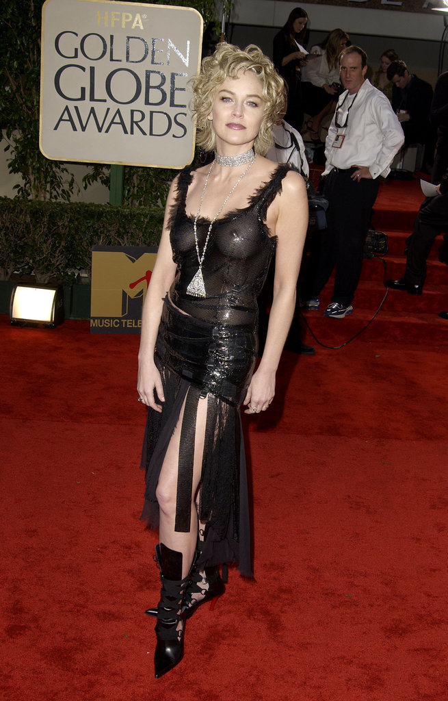 Love it or hate it, Sharon Stone's 2003 Golden Globes dress was certainly memorable.