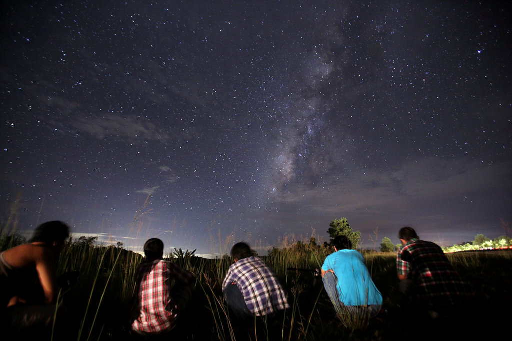 Stargazers wait for a falling star near Yangon, Myanmar.