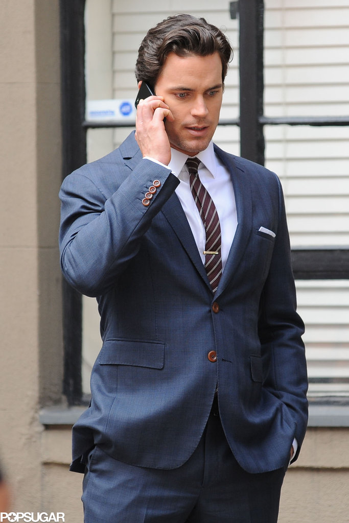 Matt Bomer was looking sharp on the set of White Collar in NYC on Wednesday.