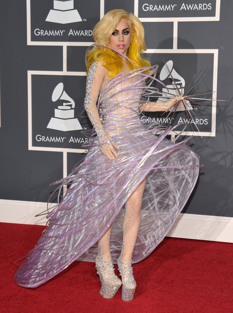 Lady Gaga and Armani teamed up to create this celestial beauty, which she wore on the red carpet of the 2010 Grammys.