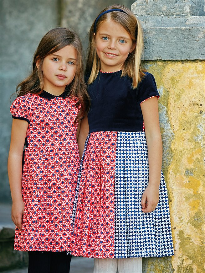 Look 9 — Girls' Dresses and Velvet Headband ($30-$325)