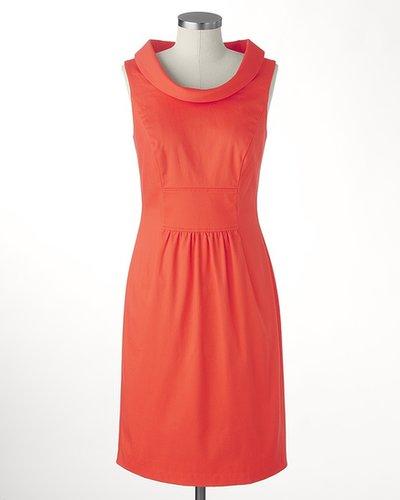 Shift into coral dress