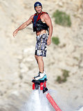 Wladimir Klitschko tried out a FlyBoard in Ibiza back in July.