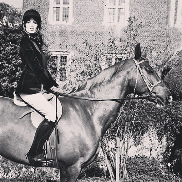 Alexa Chung always goes big, so when she posts a pet, it's a full-blown horse. Source: Instagram user chungalexa