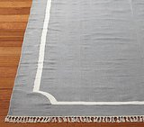 Pottery Barn Kids' Cotton Dhurrie Border Mat