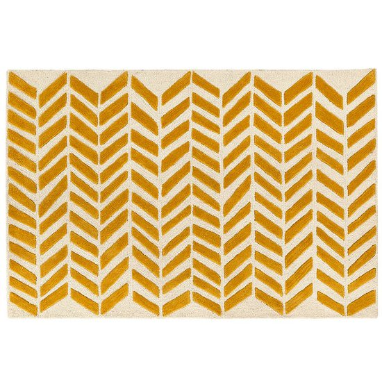 The Land of Nod Gold Bars Rug
