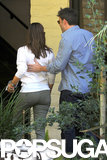 Ben placed his hand on his wife Jennifer's back as they had a couple's outing in LA in July 2013.