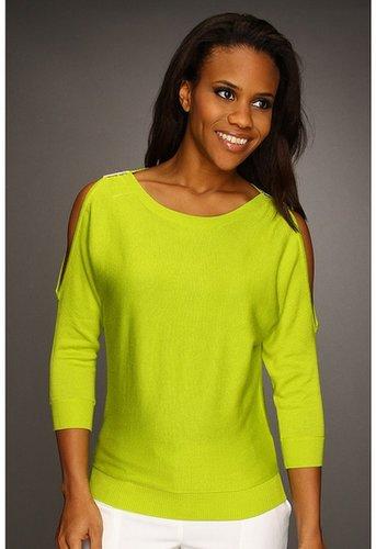 MICHAEL Michael Kors - Cold Shoulder Sweater (Fresh Lime) - Apparel