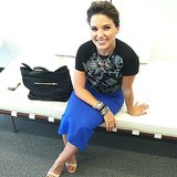 Sophia Bush stayed stylish during a visit to the Elle magazine offices in NYC. Source: Instagram user elleusa
