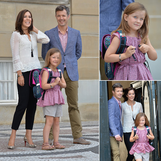 The Royal School Run: First Day Smiles For Princess Mary's Daughter Isabella