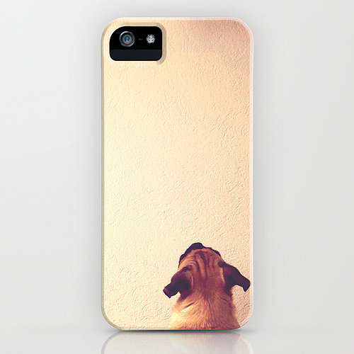 What do they do when you're not home? Sit at the door or stare at the wall and wait for you. Now hurry up, get home, and play fetch with your patient friend. You'll have this case by Roman Bratschi ($35) to remind you not to dawdle.