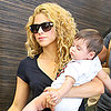 Shakira and Milan Pique at LAX