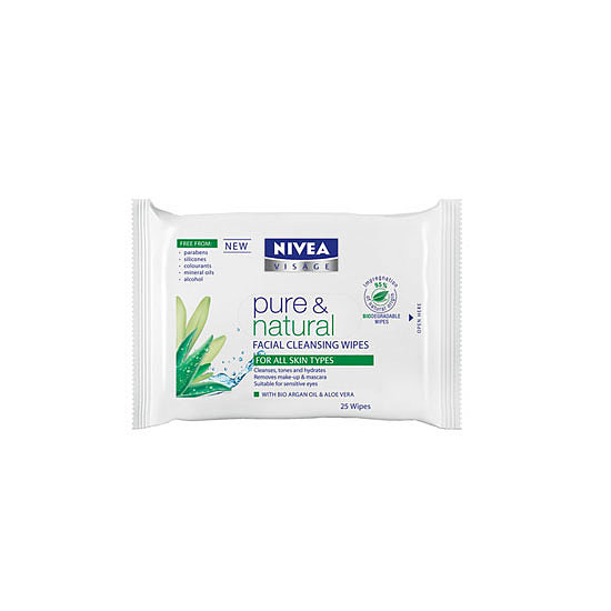Nivea Pure & Natural Facial Cleansing Wipes, $5.99