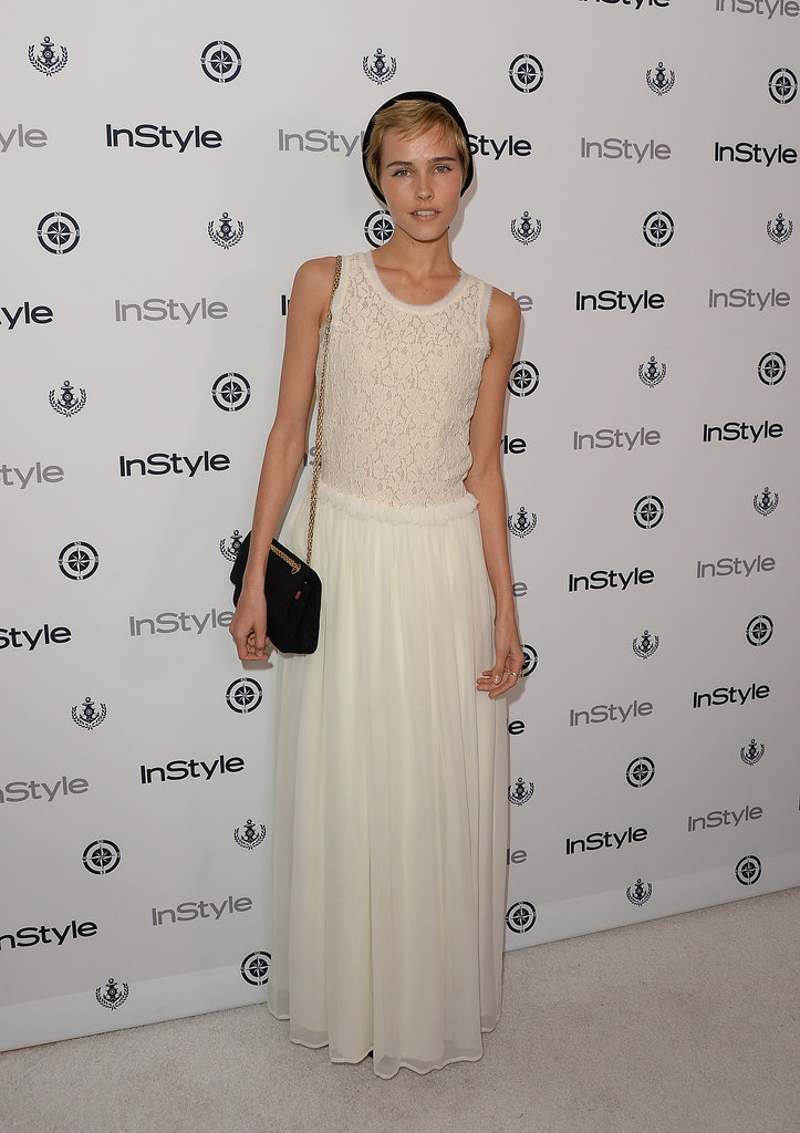 Isabel Lucas was seasonal in an airy maxi dress at the InStyle Summer Soiree.