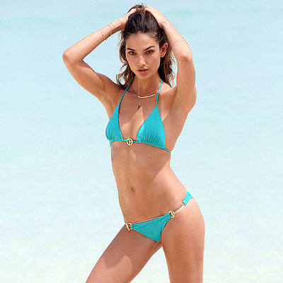 Lily Aldridge Models a Bikini in St. Barts | Pictures