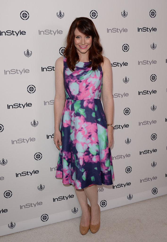 Bryce Dallas Howard showed her smile at InStyle's Summer party.