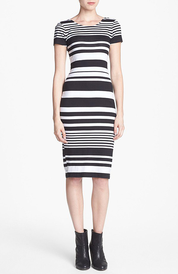 Just add ankle boots and an anorak to this Wayf striped body-con dress ($48) — et voilà! Your perfect Fall outfit.