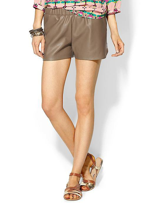 These Vince Sabine vegan leather shorts (