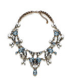 This Zara colored rhinestone necklace ($36) is pretty, even with a t-shirt.