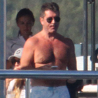 Simon Cowell Goes Shirtless on a Yacht in Sardinia