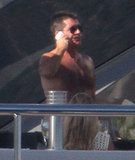 Simon Cowell Skips Divorce Court to Go Shirtless in Sardinia