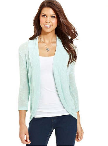 Sweater Project Juniors Sweater, Three-Quarter Sleeve Cocoon Cardigan