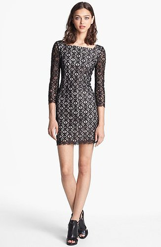 Diane von Furstenberg 'Zarita' Sequin & Lace Dress
