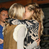 Sienna Miller and Poppy Delevingne Kiss