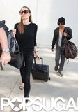 Angelina Jolie Returns Home With Her Mini Brad Pitt
