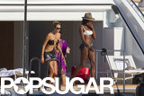 Stacy Keibler and Naomi Campbell showed off their bikini bodies while yachting in Ibiza in August.