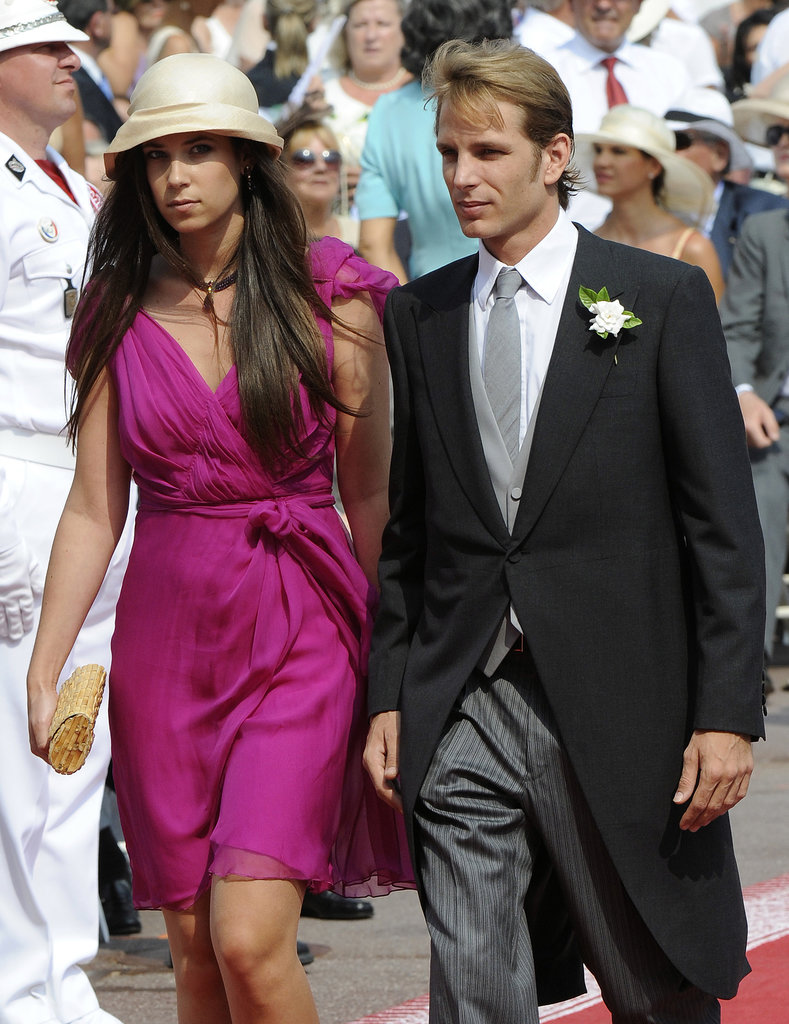 Andrea and Tatiana arrived at his uncle Prince Albert's wedding in 2011.