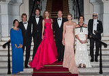 From left, Tatiana Santo Domingo, Andrea Casiraghi, Antoine Arnault, Natalia Vodianova, Prince Albert II of Monaco, Princess Charlene of Monaco, Princess Caroline of Hanover and Karl Lagerfeld posed at the Love Ball in July 2013.