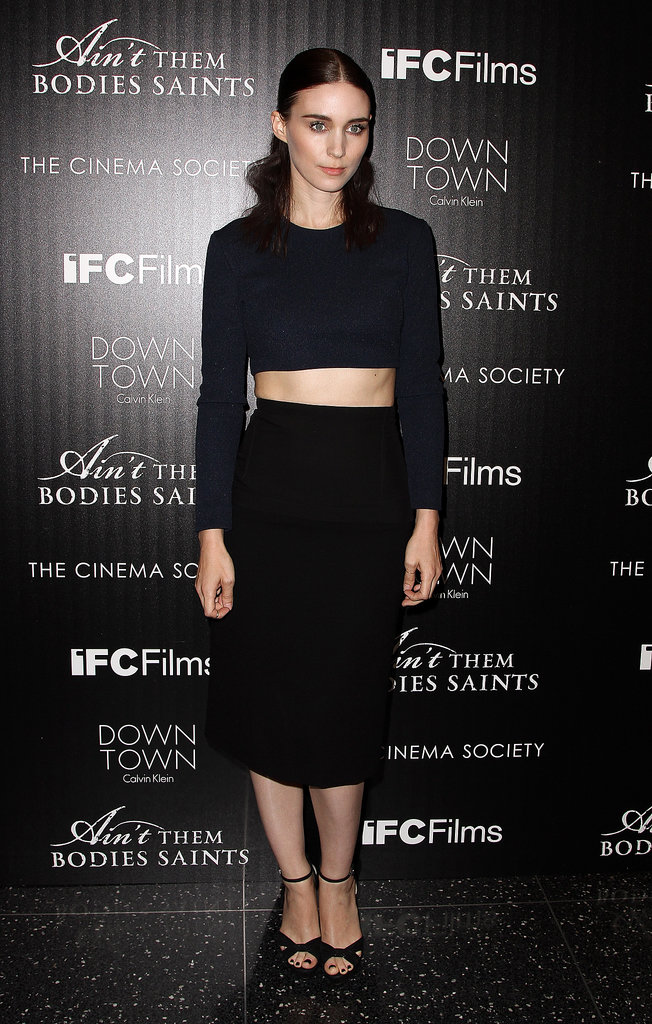 Red carpet darling Rooney Mara always gets the fashion flock excited when she has an appearance. The star didn't disappoint at a screening of Ain't Them Bodies Saints, stepping out in a Calvin Klein Collection top and skirt.