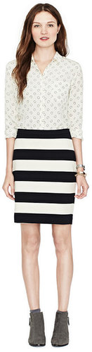 Simone Pencil Striped Skirt   						http:/...  						   						   						   						Fossil ® -