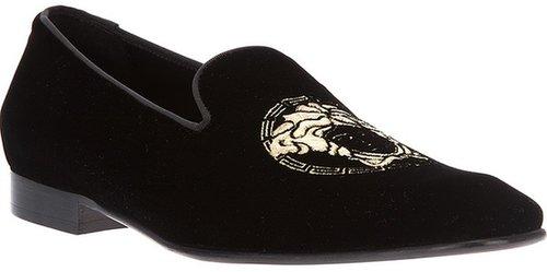 Versace logo loafer