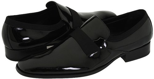 Calvin Klein - Guilford (Black Patent/Grosgrain) - Footwear