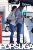 Ben Affleck and Jennifer Garner stuck close while leaving lunch in LA.