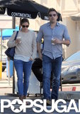 Ben Affleck and Jennifer Garner sipped coffee.