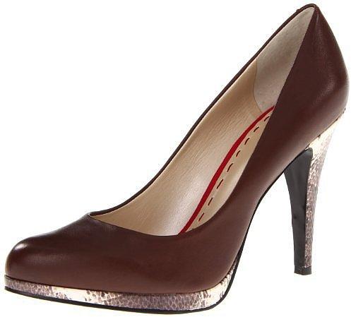 Nine West Women's Rocha Pump,Brown Leather,10 M US