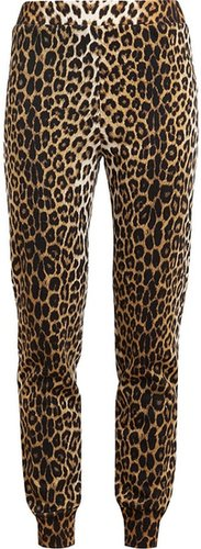 3.1 Phillip Lim Leopard Printed Cotton Sweat Pants