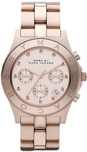 MARC BY MARC JACOBS Ladies' Blade Rose Gold Chronograph Watch