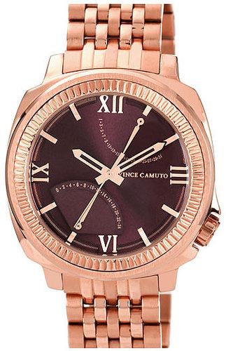 Vince Camuto Flyback Dial Bracelet Watch, 43mm Rose Gold