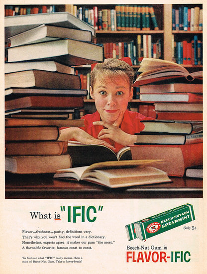 "Spoiler alert: ""ific"" is an ad gimmick, not a word."