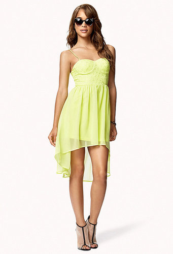 FOREVER 21 Eyelet Bodice High-Low Dress