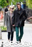 Emma Stone held Andrew Garfield's hand in NYC in May 2012.