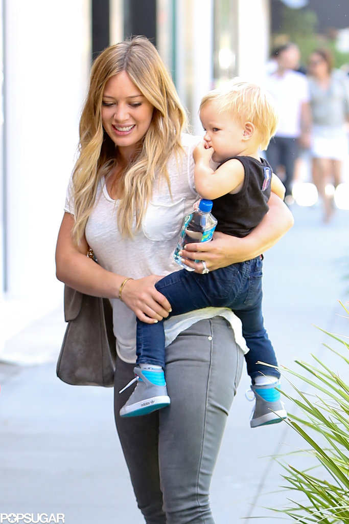 Hilary Duff had lunch with her son, Luca.