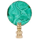 Top a lackluster lamp with this Hillary Thomas malachite finial ($75) for a polished effect.