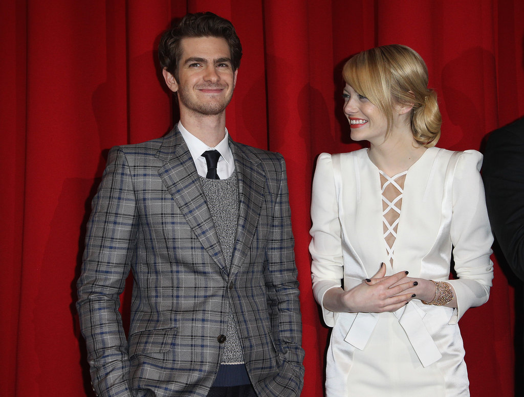Andrew Garfield had Emma Stone smiling on the red carpet in Berlin to premiere The Amazing Spider-Man in June 2012.