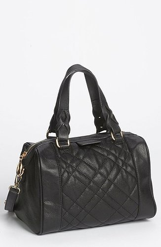 Emperia Quilted Faux Leather Mini Satchel (Online Only) Black
