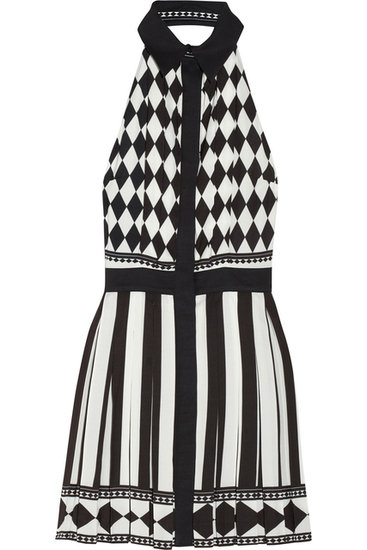 Who doesn't love a flirty halterneck dress ($1,415, originally $3,145), especially in a bold black and white pattern?